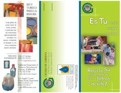 Bi-lingual (English/Spanish) used oil recycling brochure for the City of Gardena