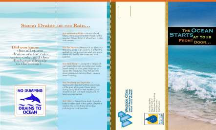 Used oil recycling & storm drain outreach brochure for the Westside Cities
