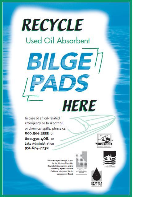 Bilge pad advertisement for WRCOG