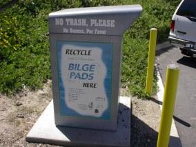 Bilge pad disposal ad in Lake Elsinore