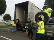 Local high school students volunteered to help collect tires in Pico Rivera!