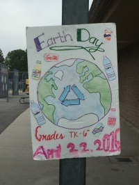 Gonsalves Elementary school students made posters to advertise their Earth Day Recycling Competition
